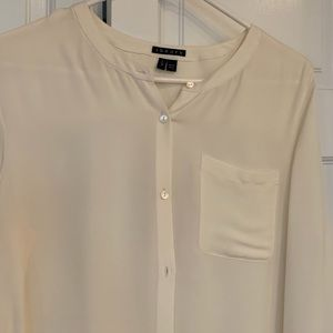Theory Tops - Theory silk tie-waist blouse